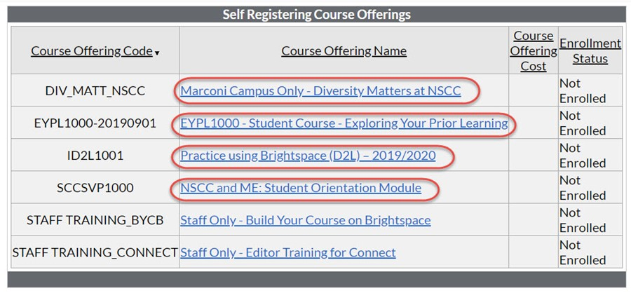self-register page